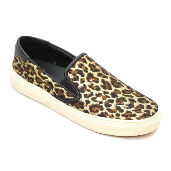 e78c1ce93ab Saint Laurent Leopard Metallic Slip On Sneakers. M_5b5e950e8869f70488b635a0